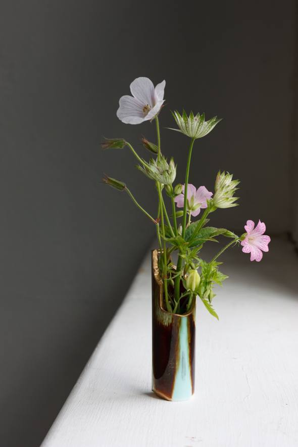 Kintsugi Vase, Reiko Kaneko, Studio Glaze, Vases, Fine Bone China, Made in Stoke on Trent-2