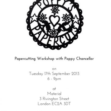 Poppy's Paper Cutting at Material