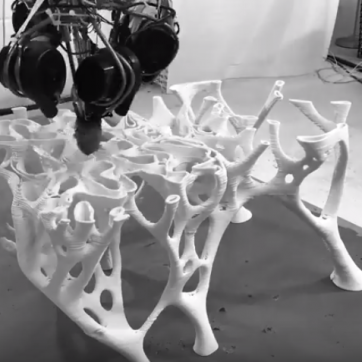STEM 45° chair is 3D printed in 20 hours – Ultra fast robotic production